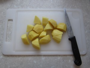 Kartoffeln geschnitten