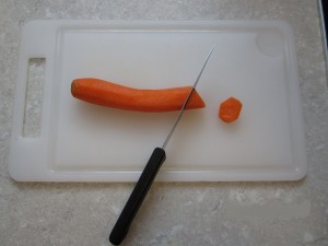 Möhren geschnitten
